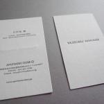 お仕事 活版印刷で名刺を制作