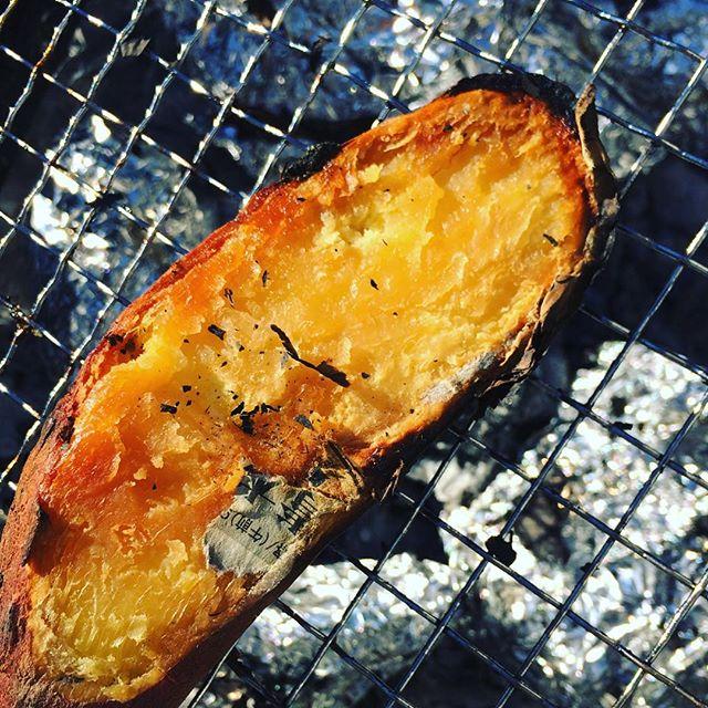 収穫したうなぎいもは、焼き芋にしてみました。甘くてほくほくで美味#うなぎいも #やきいも (Instagram)