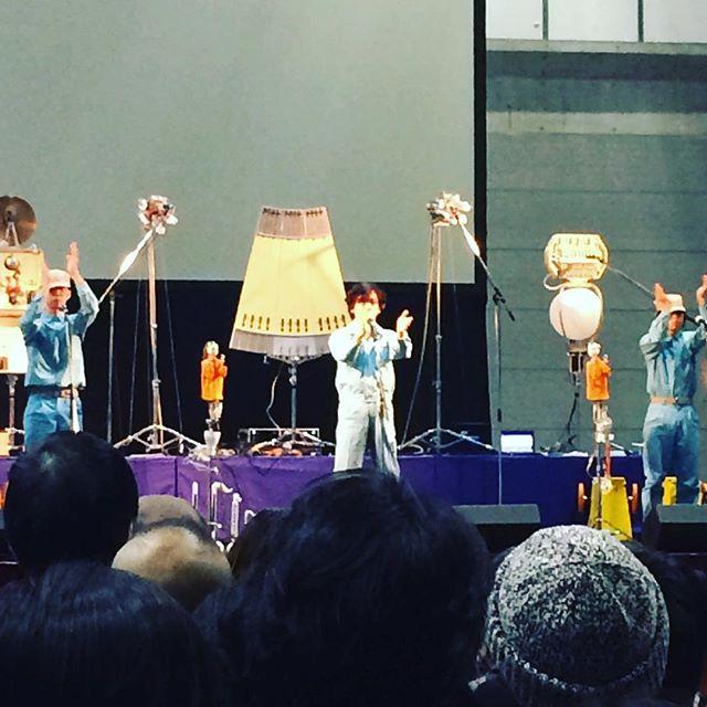 明和電機、浜松でライブ中! (Instagram)